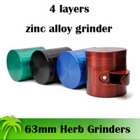 New Designed Grinders With Trash Bin 4 Piece 63mm Grinder Zi...