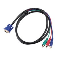 Бесплатная доставка новый 5 футов 1,5 м аудио кабель VGA до 3 RCA аудио AV кабель-адаптер для HDTV PC DVD ноутбук