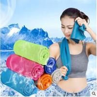 Verão Toalha Fria Exercício Aptidão Suor Gelo Toalha Esportes Ao Ar Livre Toalhas Frias Hypothermia PVA gelo washcloth 90 * 30 cm para crianças adulto