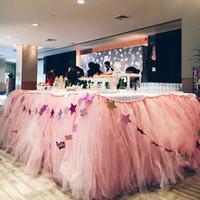 Tablecloth Fluffy Tablecloth Adereços Decoração de Casamento Sobremesas de festa de aniversário personalizado 1 * 0,8 m