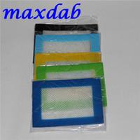 FDA genehmigt 11 * 8,5 cm Antihaft Silikon Fiberglas Backmatte 100 stücke küchenmatte mit verschiedenen farben großhandel silikonmatte