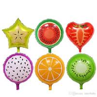 Foil Balloon Fruit Strawberry Balloons Watermelon Carambola Toys Bambini Orange Pitaya Birthday Party Decoration Palloncini Decorazioni per bambini Giocattoli J317