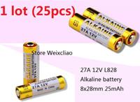 25pcs 1 Los 27A 12V 27A12V 12V27A L828 trockene alkalische Batterie 12 Volt Batterien geben Verschiffen frei