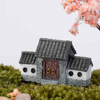 Çin Tarzı Kemerler Antik Şehir Kapısı Saksı Bitki DIY Malzeme Modeli El Sanatları Moss Teraryum Mikro Peyzaj Peri Bahçe Masaüstü Zakka