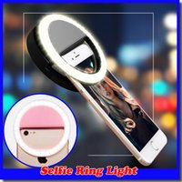 LED Ring Selfie Light Illuminazione supplementare Night Darkness Selfie Enhancing per Fotografia per iphone 7 samsung S8 con cavo di ricarica