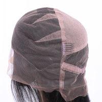 Peruk Yapımı İçin Caps Peruk ayarlanabilir sapanlar geri İsviçre dantel tam ön dantel peruk kap peruk örgü net saç uzatma