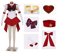 Denizci Ay Hino Rei SuperS Mars Cosplay Kostüm Elbise