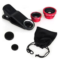 obiettivo della fotocamera del telefono cellulare portatile 3 in 1 grandangolare macro obiettivo fisheye fotocamera universale lenti del telefono cellulare fish eye lentes per iPhone 6 7