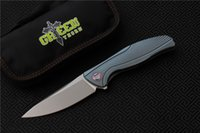 Free shipping Green thornF7 Flipper folding knife bearing M3...