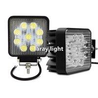 Lampada diurna 2Pcs 27W Car luce di azionamento della luce corrente DRL della nebbia della lampada dell'automobile LED fuori strada del lavoro della luce di inondazione del fascio