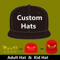 Zefit LOGO Özel Nakış Şapkalar Beyzbol Snapback Kap Özel Pamuk Kap Ayarlanabilir Hip Hop Gömme Tam kapatma Şapka