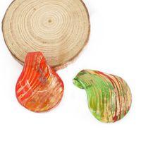 12 teile / schachtel Striped Lampwork Murano Glas Anhänger Tropfenförmige Folie Große Anhänger Perlen Für Halsketten, MC0011