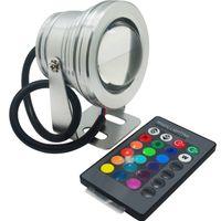 IP67 impermeabile LED subacquea luce 10W RGB Lampada DC 12V Acquario Piscina Spotlight Spotlight AUTO AUTO AUTORESSO AUTO SERBATOIO PESCIO REMOTE