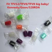 Einweg-Tropfspitzen Wrapped Silikon-Gummi-Tester Drip Tips für TFV12 / TFV8 / TFV8 Big Baby Tank-Testing Drip Tips