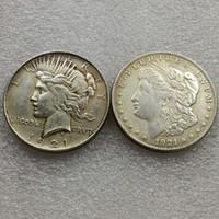 Morgan 1921/1921 Barış Dolar İki Yüz Para ilginç sihirli Paralar Hediyeler ev Aksesuarları Gümüş Paralar