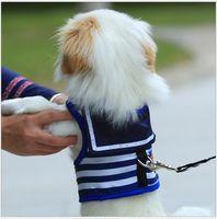 Heißer Verkauf Hund Zugseil Brustgurt Navy Stil Seemann Weste Hund Kette Teddy kleiner Hund Seil Heimtierbedarf