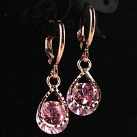 Wholesale New Jewelry Rose Gold Color Rhinestone Water Drop ...