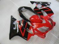 kit de carénage customize Gratuit pour Honda CBR600 F4i 04 05 06 07 carénages noir rouge mis CBR600F4I 2004-2007 OT13