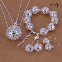 stesso prezzo set di gioielli misti donne di stile in argento sterling, argento di modo 925 del braccialetto della collana di gioielli insieme GTS50