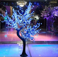 2017 LED Cherry Blossom Tree Light 864pcs LED Bulbs 1.8m Height 110 220VAC Seven Colors for Option Rainproof Outdoor Usage Drop Shipping MYY