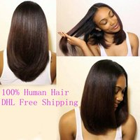 Glueless Full Lace Human Hair Wigs With Baby Hair Virgin Bra...