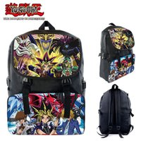 Fashion Anime Yu- Gi- Oh! Yugi Muto nylon Backpack Waterproof ...