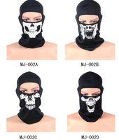Máscaras táticos capacete Airsoft Wargame respirável Dustproof face Balaclava Unisex chapelaria Motorcycle Ski Ciclismo Caça crânio cabeça capa