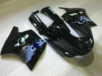 Verkleidungsset für KAWASAKI Ninja ZZR1100 93 94 99 00 01 ZX11 1993 2001 ZZR1100D 93-01 ABS schwarz glänzend Verkleidungsset + 7gifts ZD01