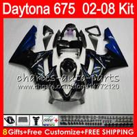 8 Geschenke 23 Farben für Triumph Daytona 675 02 03 04 05 06 07 08 Daytona675 4HM30 schwarz Daytona 675 2002 2003 2004 2005 2006 2007 2008 Verkleidung