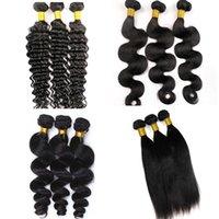 حزم الشعر البرازيلي عذراء الشعر البشري ينسج الجسم موجة لحمة غير المجهزة 8-34 بوصة بيرو الهندية الماليزية المنك الشعر البشري