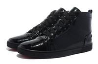 하이 탑 남성 디자이너 럭셔리 레드 하단 신발 남성 여성 블랙 Snakeskin 캐주얼 신발 브랜드 뉴 유니섹스 컴포트 스케이트 운동화 판매