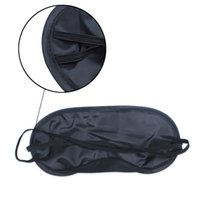 Black Sleep Eye Mask Shades Sleeping Rest Cover Blindfold Ne...