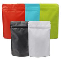 50шт Стоьте вверх Штейн майлара мешок термосвариваемый мешок замка застежки-молнии пластмассы чистой алюминиевой фольги мешков кофе упаковки металлизированная сумка