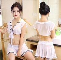 New lingerie sexy lace nightgown apron type maid uniform tem...