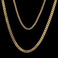 Hiphop Cuban Link Chain Mens Chain Necklace Classic Jewelry 2 Taglie 18k Placcato oro Collana a maglia all'ingrosso