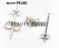 50 Pairs Wholesale 925 Sterling Silver Ear Studs Findings St...