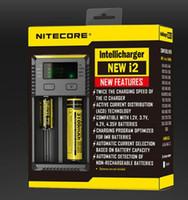 100% Original Novo Nitecore i2 Intellicharger Carregador de Bateria Universal para 16340 10440 AA AAA 14500 18650 26650 etc carregador Inteligente