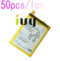 50 adet / grup 2900 mAh LIS1593ERPC Için Yedek Şarj Edilebilir Li-Polimer Pil Z5 E6653 E6683 E6603 E6883 E6633 Piller Batteria ...