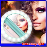 Selfie Ring Light Illuminazione supplementare Night Darkness Selfie Enhancing per fotografia per iphone7 samsung S7 con cavo di ricarica