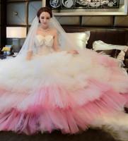 Quinceanera Dresses 공 가운 2016 연인 러프 웨딩 드레스 2017 Vestido de Novia 우아한 신부 가운 Organza 웨딩 드레스