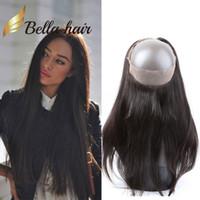 360 레이스 정면 브라질 페루 인도 말레이시아 스트레이트 인간의 머리카락 360 클로저 판매 Bellahair 자연 색상 버진 헤어 클로저