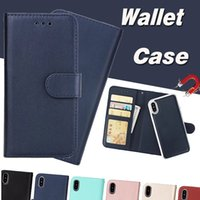2 in 1 Magnetic Magnet Wallet Leather Retro Case Card Slot H...