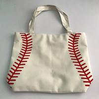 2017 kleine leinwand tasche Baseball Tragetaschen Sporttaschen Casual Tote Softball Tasche Fußball Fußball Basketball Tasche Baumwolle Leinwand Material