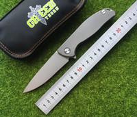Медведь зеленый шип F95 Флиппер складной нож подшипник D2 лезвие TC4 Титана ручка открытый кемпинг охота карманный фруктовый нож EDC инструменты