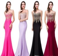 Nur $ 39 PREISWERTES Real Image Mermaid Prom Dresses 2019 Sheer Jewel Hals Applikationen ärmellose lange Abendkleider Robe de Soiree CPS262