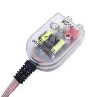 자동 라인 아웃 컨버터 오디오 사운드 서브 우퍼 앰프 스타일링 자동차 스피커 RCA 레벨 어댑터로 낮은 소켓 # 2383