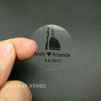 100 unids 30mm Personalizar Personalizado Transparente Transparente Invitación de Boda de Cumpleaños Sobre Seals Sticker Logo Sticker