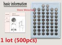 500 stücke 1 los CR1220 3 V lithium li ionen-knopfzelle CR 1220 3 Volt li-ion münze batterien tray paket Kostenloser Versand