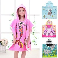 Bath Towel Blanket Micro Fiber Material Kid Cartoon Print Ho...
