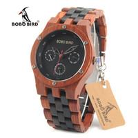 Bobo bird n17 relógios novos de madeira erkek saatler top mara relógios artesanais de luxo para homens pode dropshipping